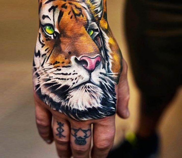 Tiger tattoo by Khan Tattoo