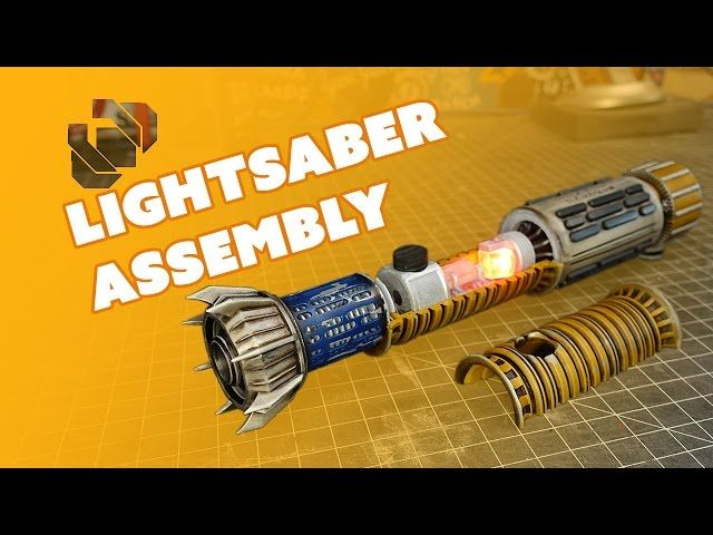 Assembling and Weathering a 3D Printed Lightsaber - Prop: Live from the Shop