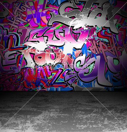 Graffiti zdi městské pouliční umění, malování — Stocková ilustrace #9319636