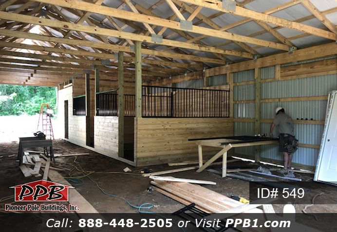 Building Horse Stalls Pole Buildings Building Entry Doors