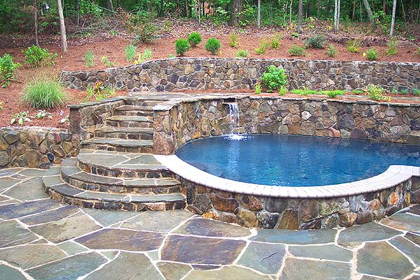 Pin by sherry vargas on cool stuff pinterest for Pool design retaining wall