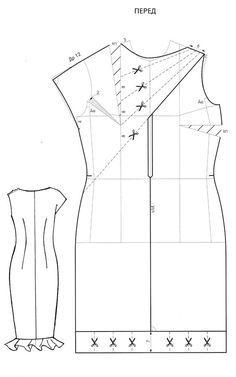 Pattern dress with drapery./Pattern dress with drapery.