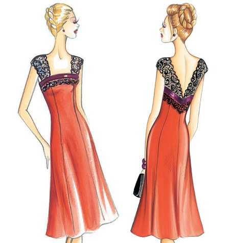 F3146 | Marfy Dress | Evening / Prom | Butterick Patterns