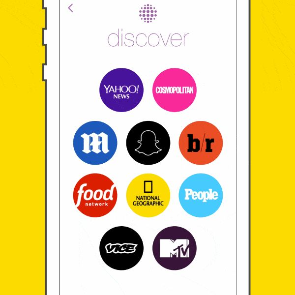 snapchat app update: snapchat discover (integration of a news section)