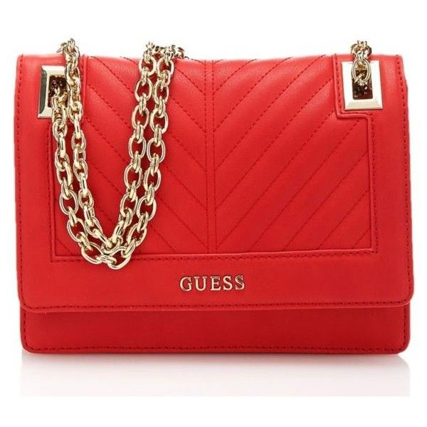 GUESS | Women Bags ❤ liked on Polyvore featuring bags, handbags, clutches, red bag, guess purses, guess handbags, red handbags and red purse