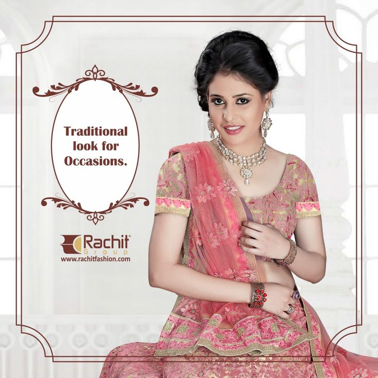 Most classical look for your Occasions. Shop Awesome Lehanga Collection: www.rachitfashion.com  #Pretty #Lehanga #Collection #Awesome #You #RachitFashion