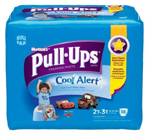 Huggies Pull-Ups Training Pants with Cool Alert, Boys, 2T-3T, 58 Count | BabyLove.myonlinebiz4u2.com
