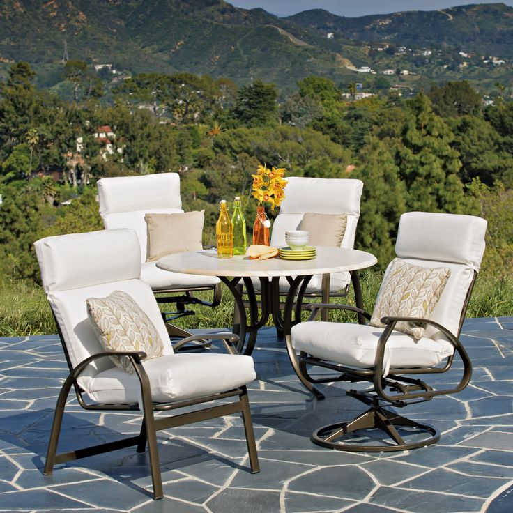 Casual Cape May Cushion Patio Dining Collection.