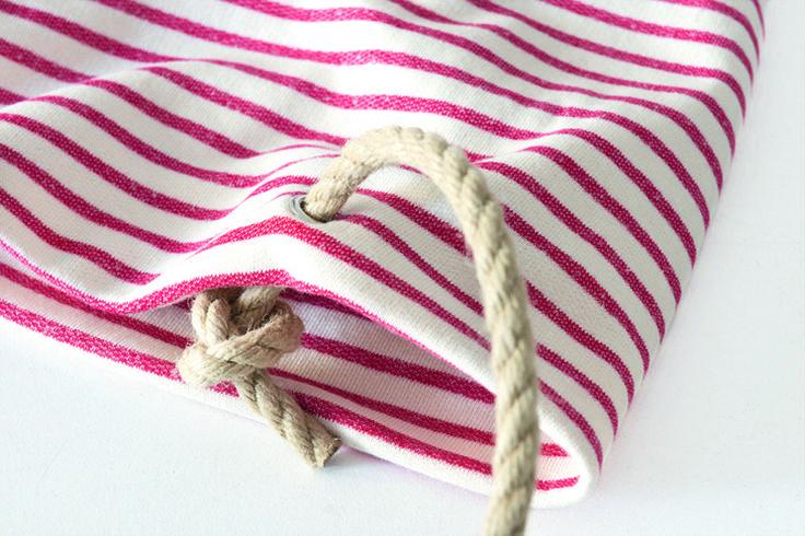 Трикотажная пляжная сумка своими руками