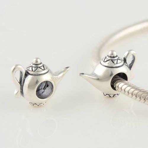50th Birthday Charm Bead - 925 Sterling Silver - Fits Most European Style Charm Bracelets LXvkJ