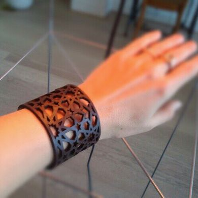 moroccan holiday patterns leather cuffs