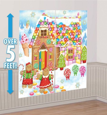 Christmas Scene Setters   Christmas Themed Vinyl Wall Decorations   Party  City Part 43