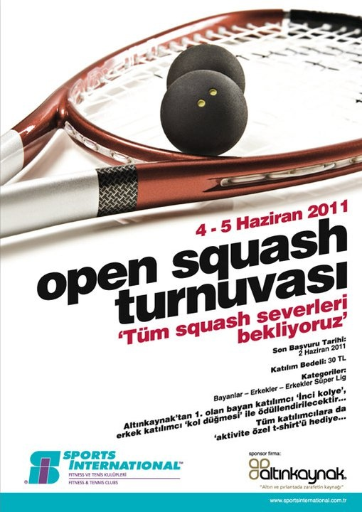 Sports International squash turnuvası