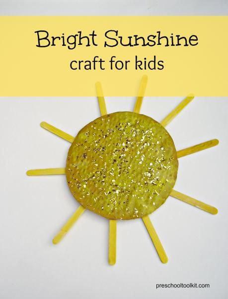 Bright sunshine craft to make with preschoolers - Preschool Toolkit