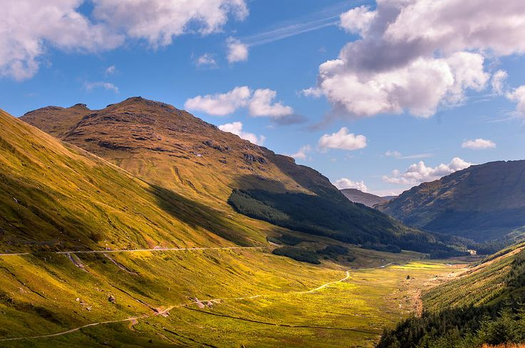 Light Clouds Over Glen Croe. Scotland by Jenny Rainbow     #JennyRainbowFineArtPhotography #FineArtLandscape #HomeDecor #ArtForHome #Scotland #FineArtPrints #Mountains