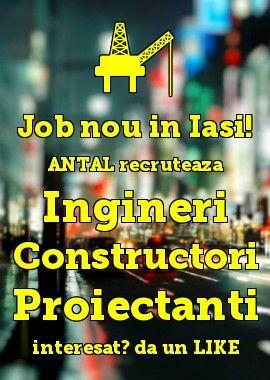 ANTAL International Network Romania - Iasi Office recruteaza #Ingineri #Constructori #Proiectanti, in #Iasi #Romania; dati un LIKE ! si trimiteti CV: officeiasi@antal.com