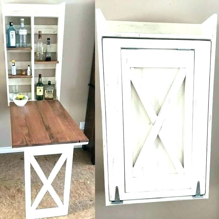 Small Wall Table Fold Down Up
