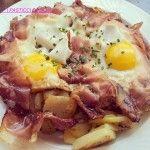 "Uova patate e speck - ""Spiegeleier"""