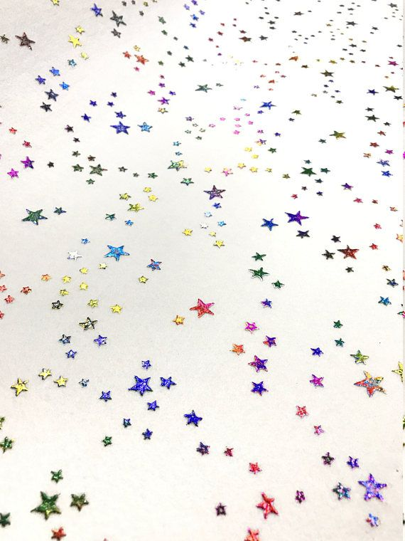NEW Rainbow Star Felt for Hair Bows and Craft By the A4 or A5