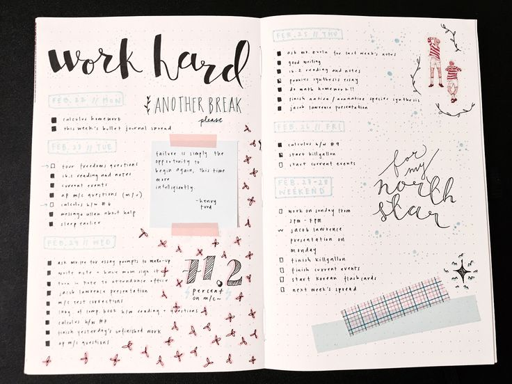 [fri. 26 february] here are my spreads from the past few weeks! i need to get used to posting more original content because i've only been reblogging lately haha ;; much of my inspiration came from...