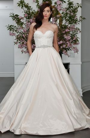 Romona Keveza Collection Sweetheart Ball Gown in Silk Shantung | KleinfeldBridal.com