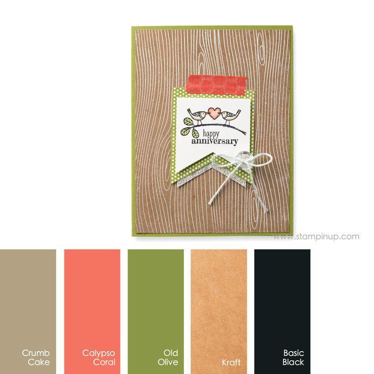 350 Best Color Schemes Images On Pinterest: Crumb Cake, Calypso Coral, Old Olive, Kraft, Basic Black
