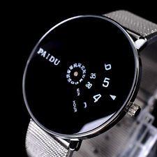 Sliver Fashion Luxury Men's Women's Stainless Steel Band Quartz Wrist Watch