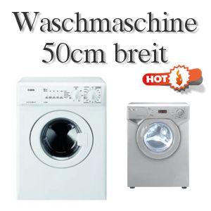 Hier gibt's 5 bewährte Waschmaschinen 50 cm breit.