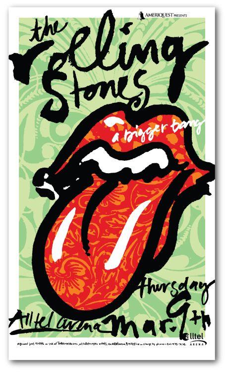 Rolling Stones Concert Poster | Jamie Burwell Mixon