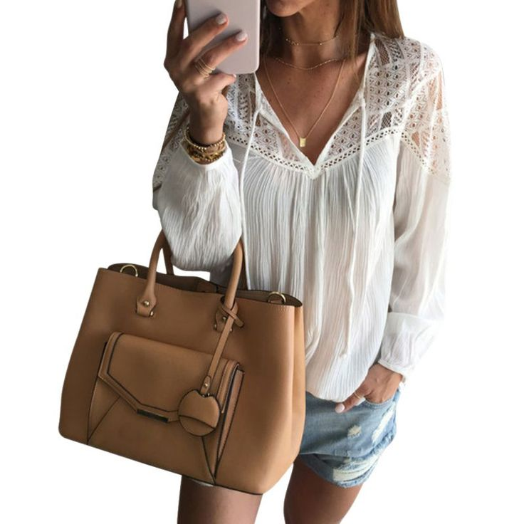 Sexy Fashion Women's Lace Tops Tee Long Sleeve Blouse  Casual Transparent  Blouses  Loose Clothing