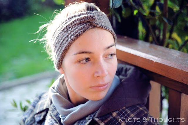 Knots and Thoughts: Crochet turban headband - FREE PATTERN