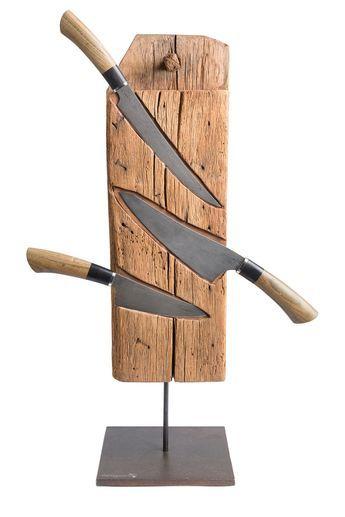 Messerblock mit Messern aus Damaststahl   – Ideen