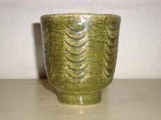 PALSHUS pot – Per Linnemann-Schmidt - made in chamotte. H: 10 cm D: 8,5 cm. From 1950s.   #Palshus #Linnemann #Schmidt #chamotte #stoneware #ceramics #Danish #krukke #pot #lamp #tilsalg #forsale on www.klitgaarden.net