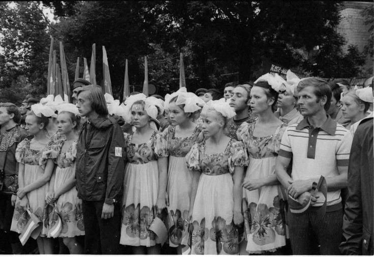 Komszomol-küldöttség, 70-es évek (Fotó: Chochol Károly / Budapest Galéria)