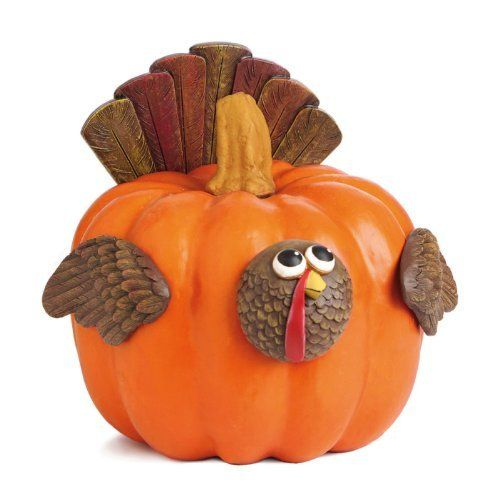 "Turkey Pumpkin Wear by Outdoor Decor. $13.30. Multi-colored. Pieces range from 2.25"" to 5.75"". Polystone & Metal. Use year after year on real or faux pumpkins or gourds. Never worry about the mess of carving your pumpkin again. Instead decorate it with this 'pumpkin wear' that you can use year after year. Turn your pumpkin into a turkey, with his tail feathers fanned out behind him. What an easy and fun way to dress up your pumpkin for the harvest season!. Save 44%!"