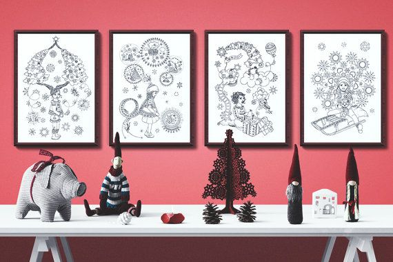 Charming Christmas collection - 4 posters