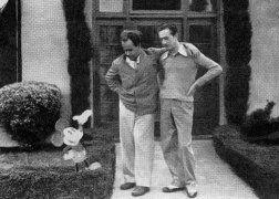 Известный русский режиссер Сергей Эйзенштейн и Уолт Дисней. 1930.