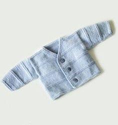 This is a free Pattern!!! Garter Ridge Baby Cardigan Pattern (Knit)