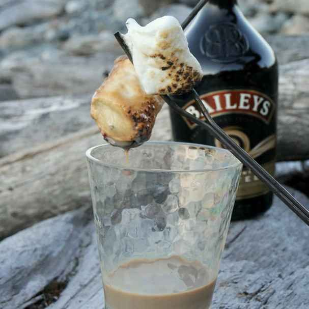 Bailey's-Dipped Toasted Marshmallows