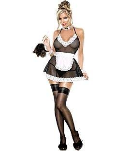 elonbo® sexy girl spandex preto uniforme de empregada das mulheres