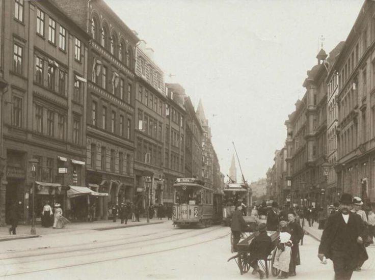 Vesterbrogade mellem Vesterbros Torv og Helgolandsgade ca 1905