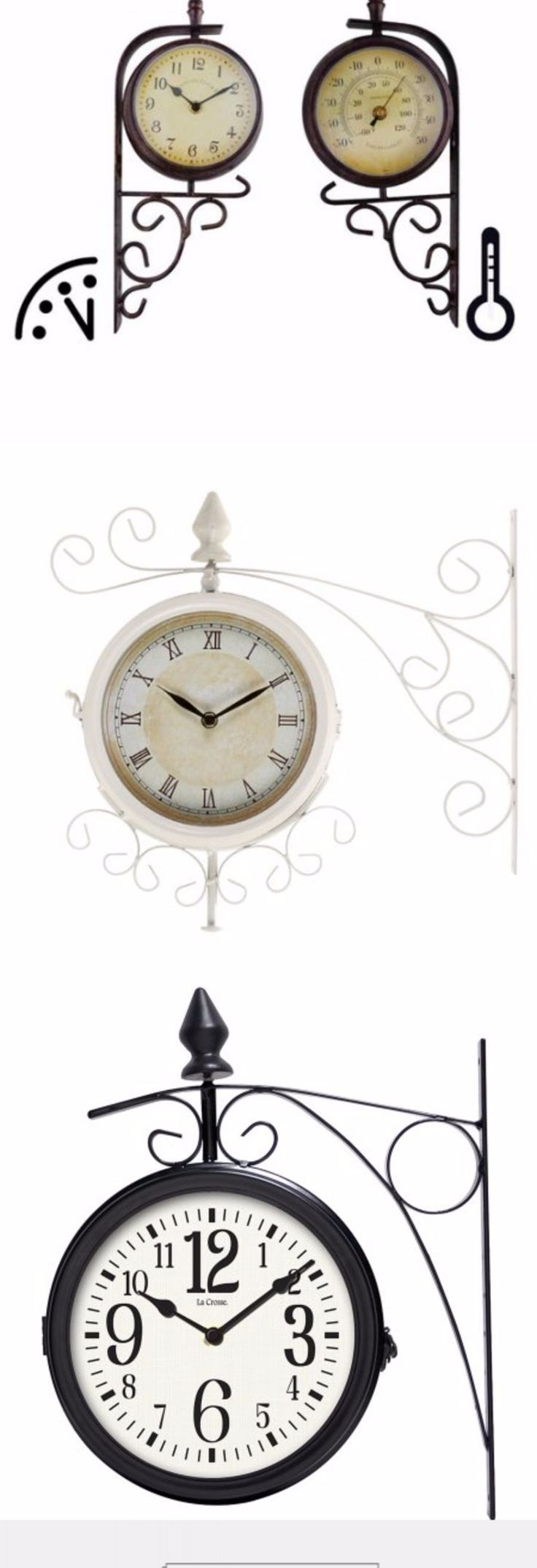 Two Sided Outdoor Clocks make great gifts for a gardener, either for a birthday, Christmas or retirement.