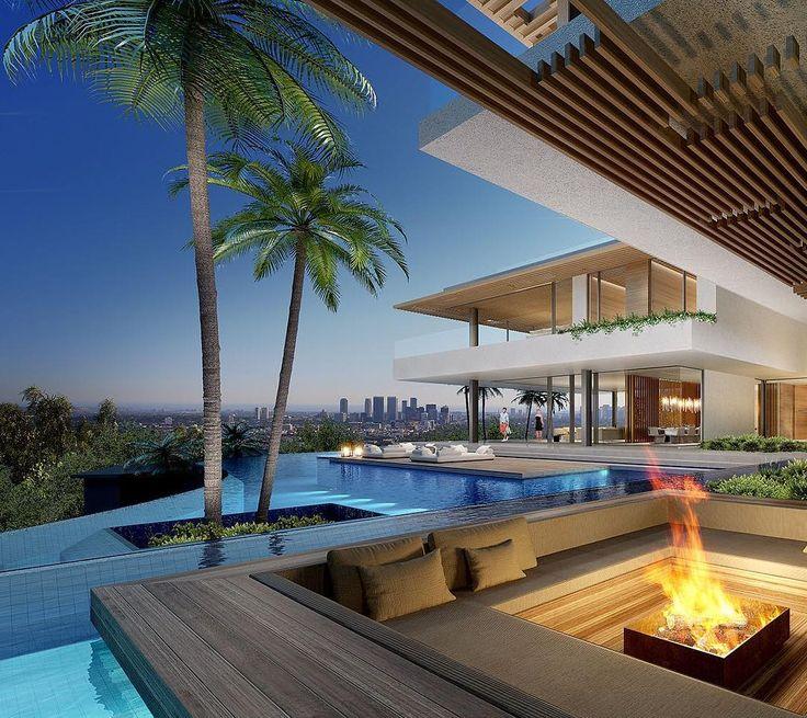 "SAOTA on Instagram: ""Hillside set in Los Angeles, USA. #architects #architecture #contemporary #saota #LA #losangeles #usa"""
