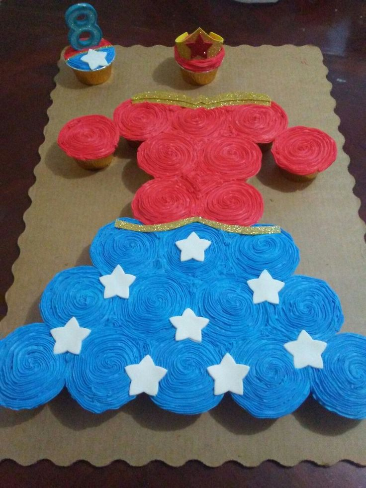 Wonder Woman Cupcake Dress