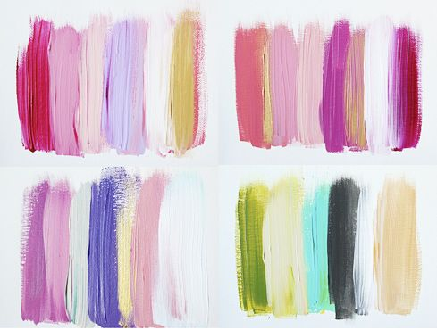 color swatches: Blocks Paintings, Paintings Swatch, Soft Colors, Paintings Colors, Modernart Paintings, Colors Wheels, Art Ideas, Colors Swatch, Summer Colors