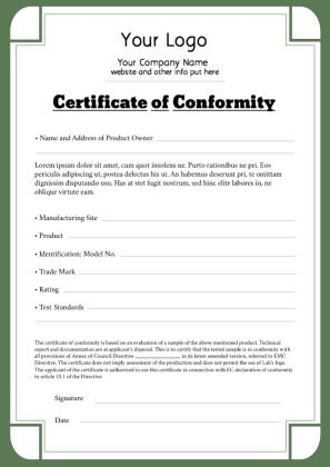 certificate of conformance template 40 free certificate of