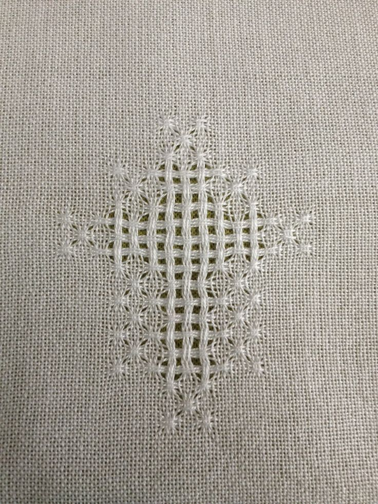 huck lace cross in cotlin for a baptismal cloth