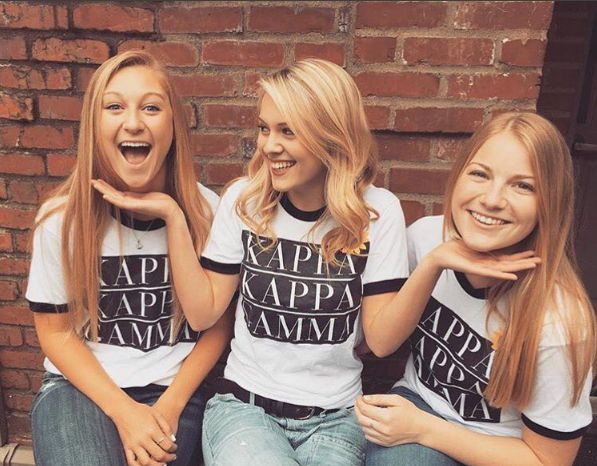 KKG Ringer Tee by TSL | Kappa Kappa Gamma | Sorority Recruitment | Bid Day Ideas | Big Little Reveal