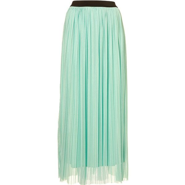 **Mesh Pleat Maxi Skirt by Love ($23) ❤ liked on Polyvore featuring skirts, maxi skirts, bottoms, saias, mint, mint maxi skirt, pleated maxi skirt, maxi skirt, long pleated skirt and long green skirt