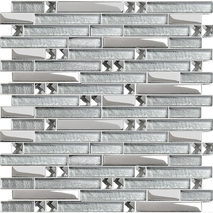 Crystal Glass Plated Interlocking Mosaic Tile Mirror Wall Diamond Tile Backsplash A Place For